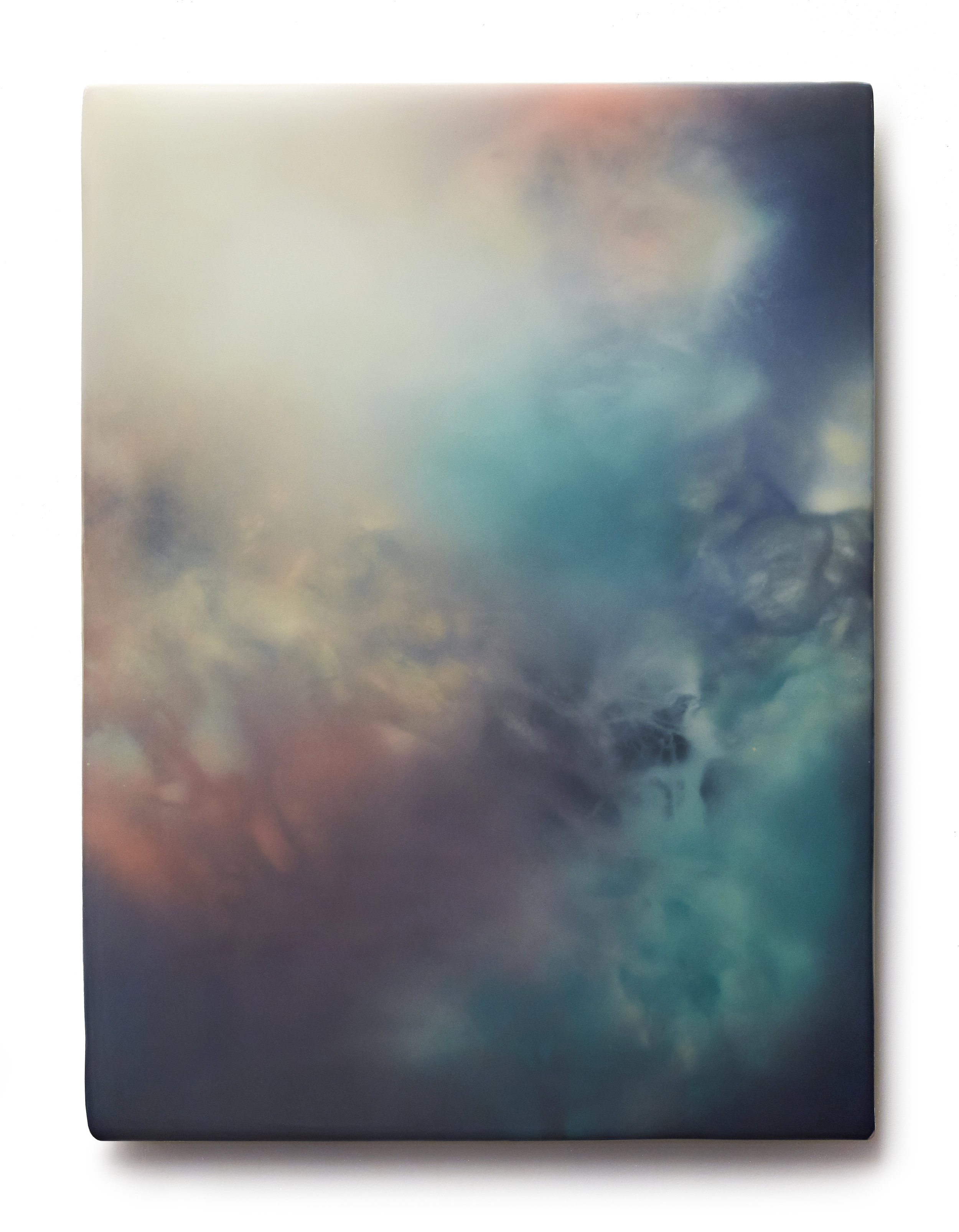 "SOC LENTICULAR REN   Phosphorescent pigment, high density foam, acrylic paint, UV  protected epoxy, vanish  30"" x 40"" 2015"