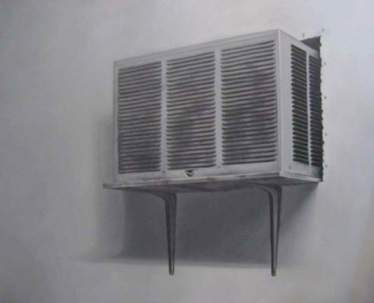 A.J. Fries  - Air Conditioner, 2012, oil on canvas, 24 x 30 inches