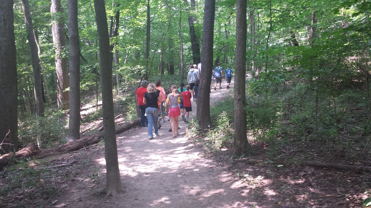 On the first day of Climate Camp, we took a hike through the woods of Eagle Creek, where Peace Learning Center is located.
