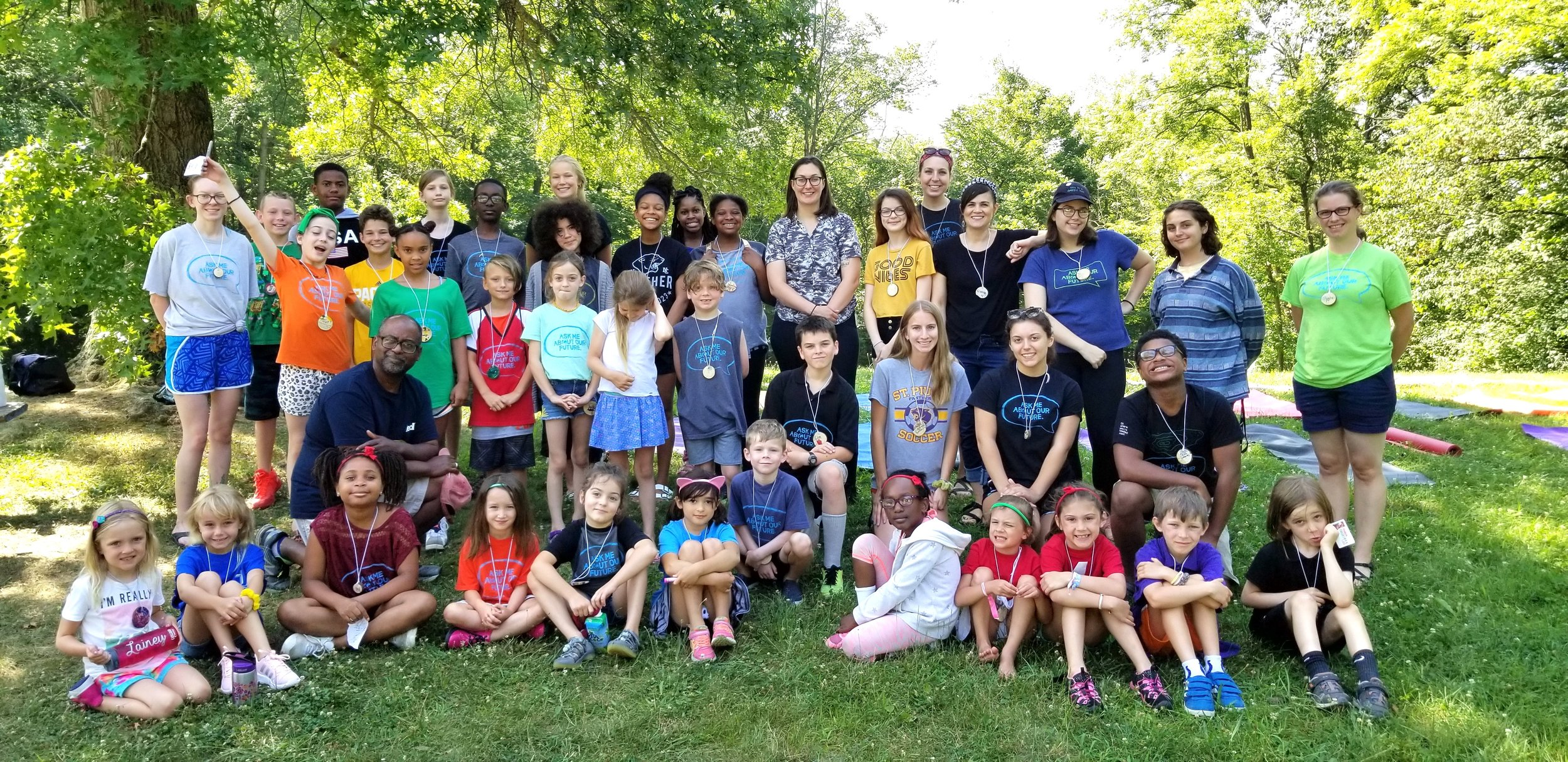 Climate Camp invites experts in to speak to our campers about pertinent issues. In the back row, just right of center (the woman in the glasses), is Emily Hopkins, reporter for the Indianapolis Star, whose story on the Indianapolis 500 balloon release, captured our attention. She came to camp to describe her story and share her thoughts. Some of our campers are considering a career in journalism, so that was an added plus!
