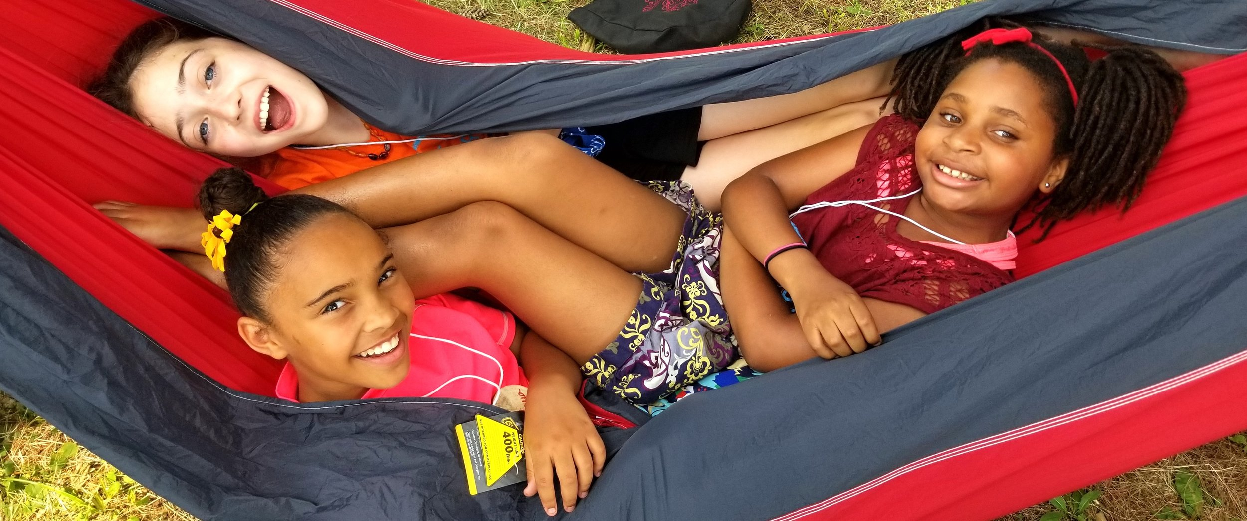 Climate Camp is about having fun, too! Week One, one of our youth counselors, Alli, brought a half dozen hammocks to share. The kids loved it! Hammocks are now part of our Climate Camp curriculum!