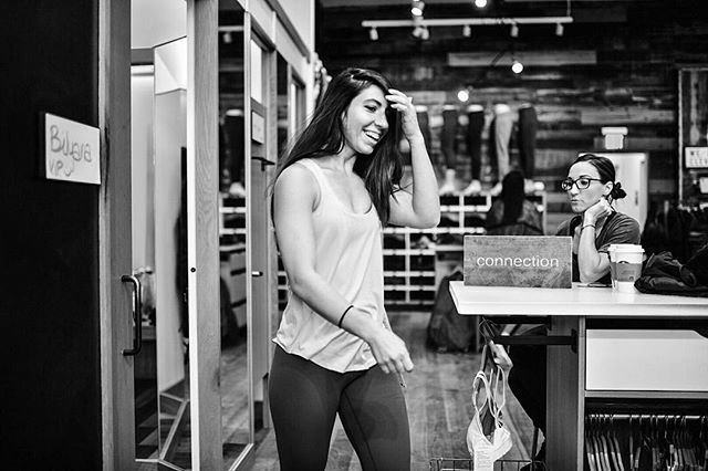 From a recent @lululemon fit session with @toughasmilk and @samarie12.  Excited for her ambassador shoot this week! Looking forward to collaborating with @goodkindcoffee and @climbcleveland as well!