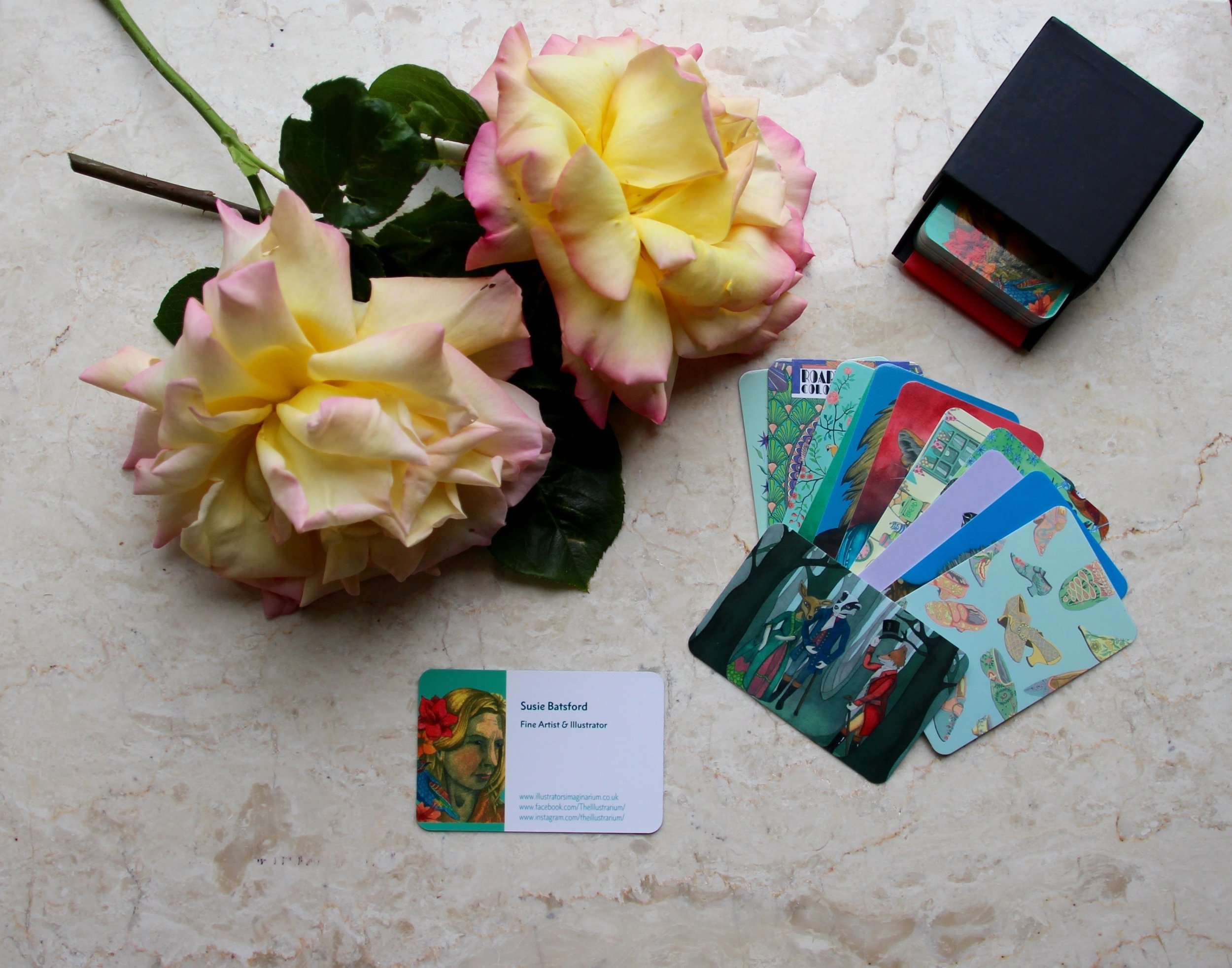 Susie Batsfords Business Cards with Original Art