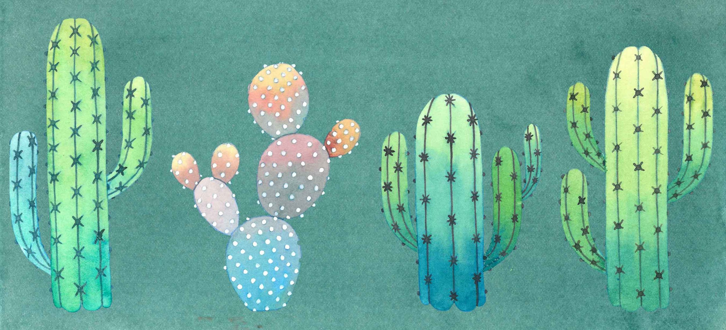 Mats Bootcamp Cactii for Children's Story Book