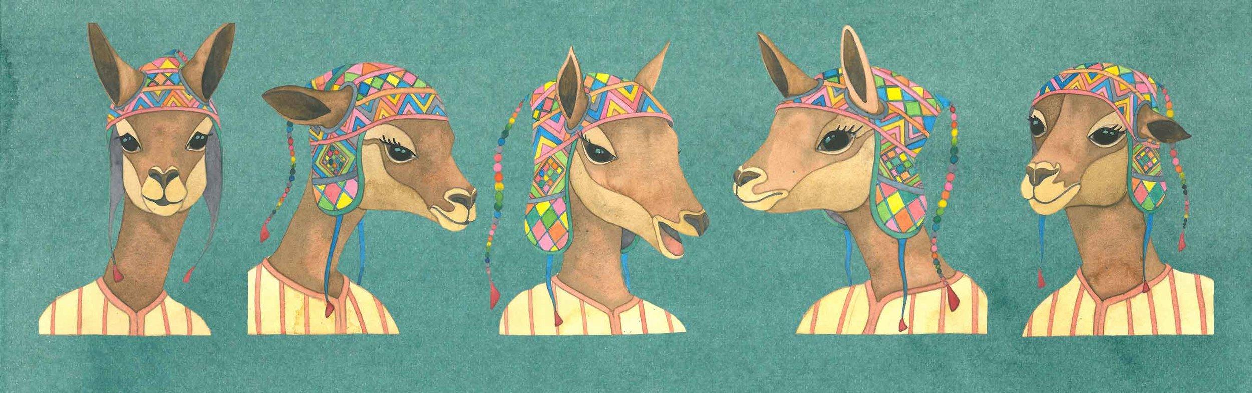 Watercolor Kids Book Character