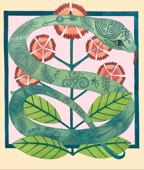 Sweet Williams & Cosmic Serpent Letter S