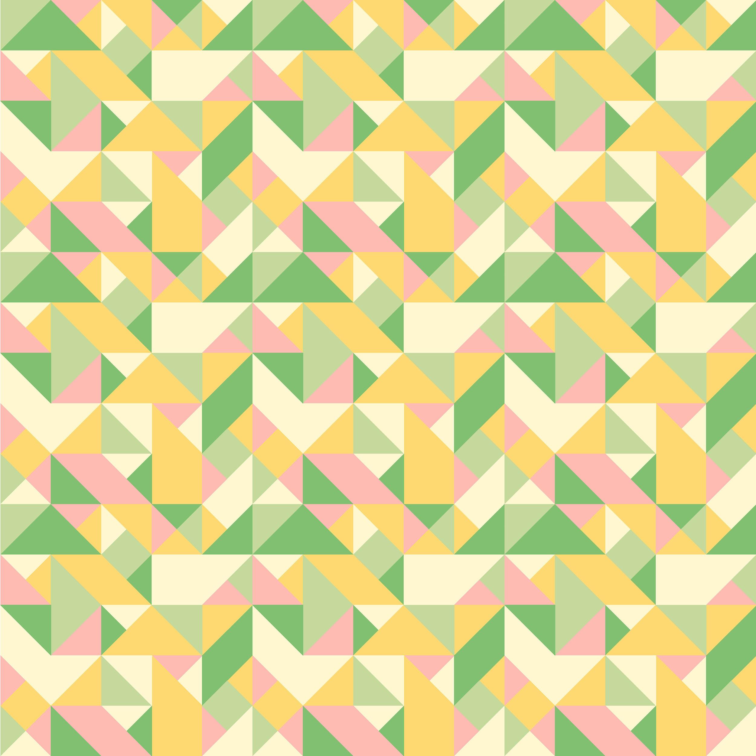 Textile Design Geometric Triangles