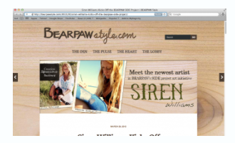 """Interview with BEARPAW BEARPAW's SIDE Project Art Initiative. Siren painted up 5 pairs of """"Emma"""" boots."""