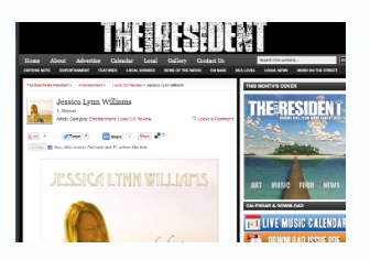 """Debut """"Jessica Lynn Williams"""" Album Review with The Beachside Resident"""