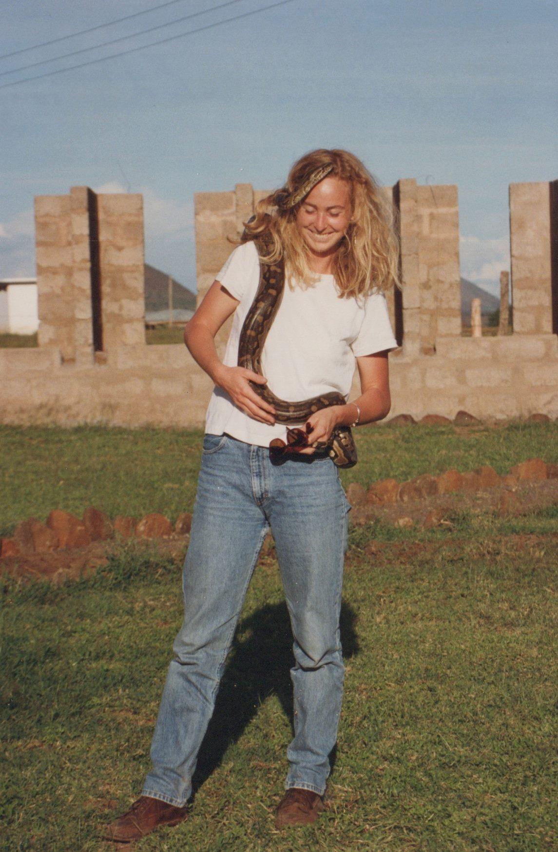 Unite Founder & Director Anne Wells, Tanzania 1991