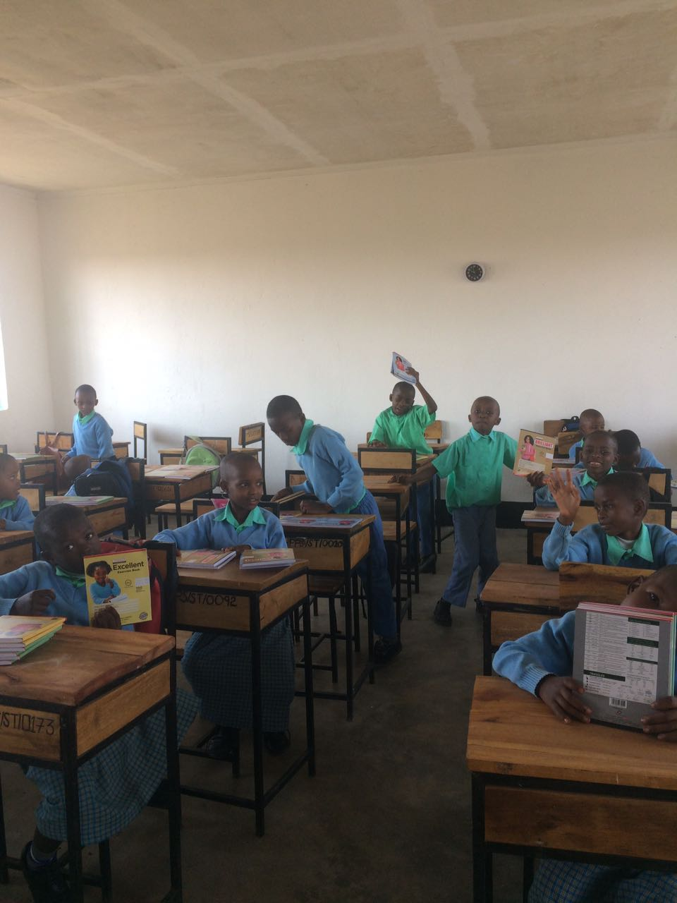 Ceilings were recently installed in the Heaven classrooms to help cut down on sound disruptions.