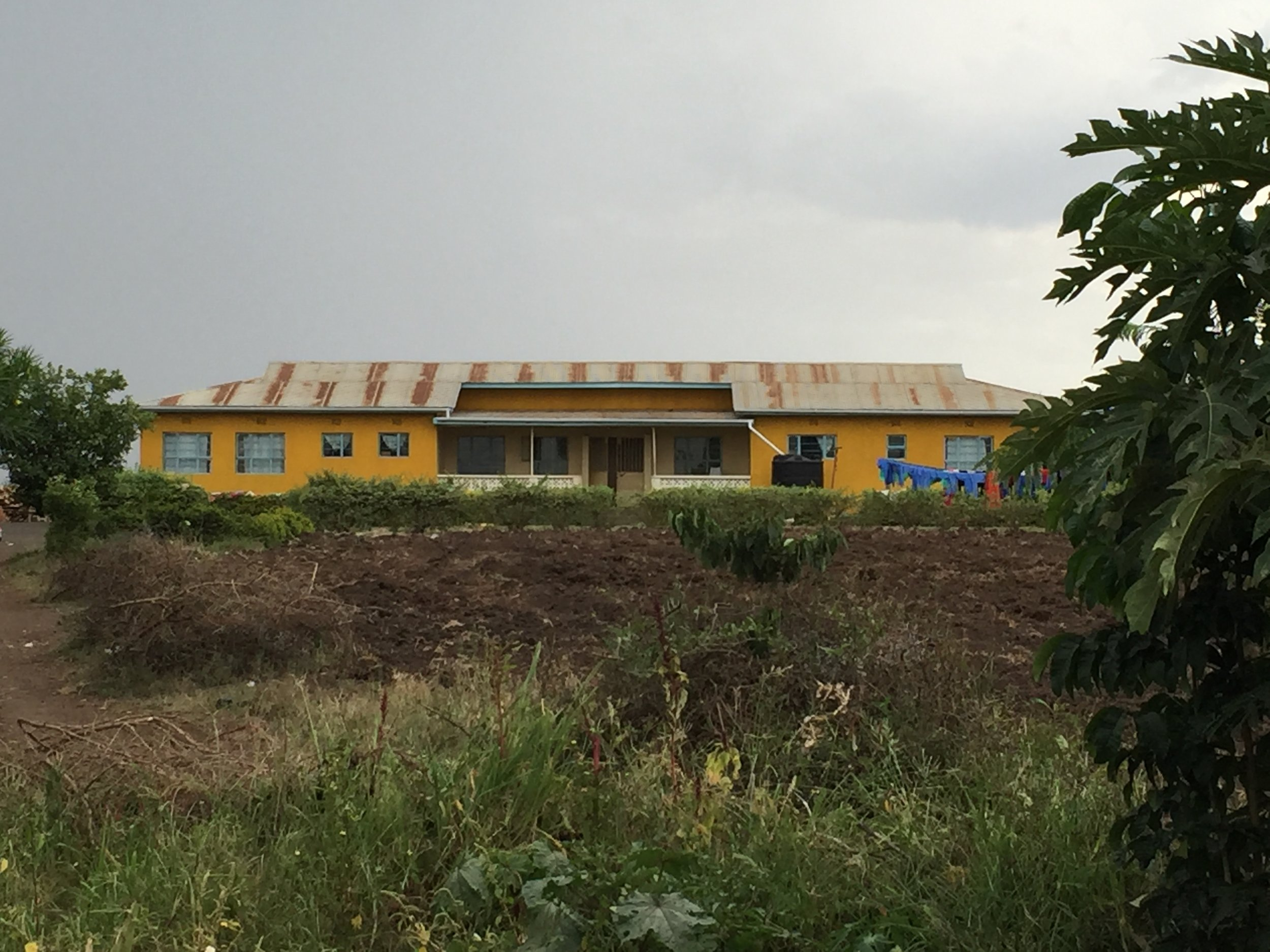 Both the girls dorm (above) and the boys dorm are in desperate need of new roofs and renovations to stop the leakage and rot.