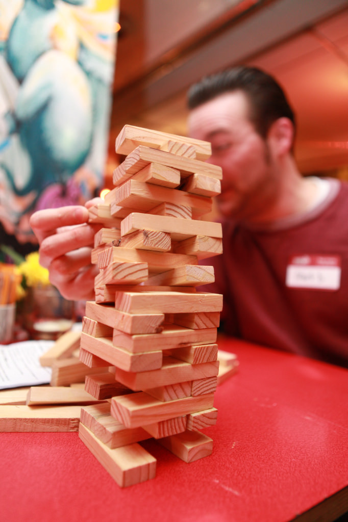 Jenga at the Yacht Club makes for a good family day out in Leeds