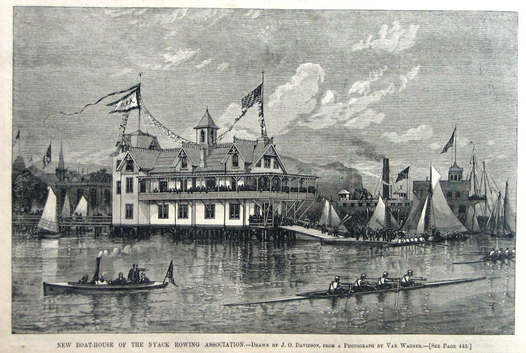 Nyack Rowing Association Boathouse, late 1800's