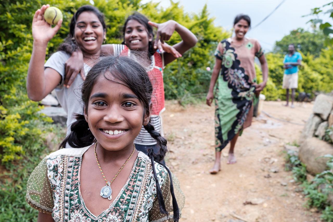 Copy of sri lankan family smiling into camera