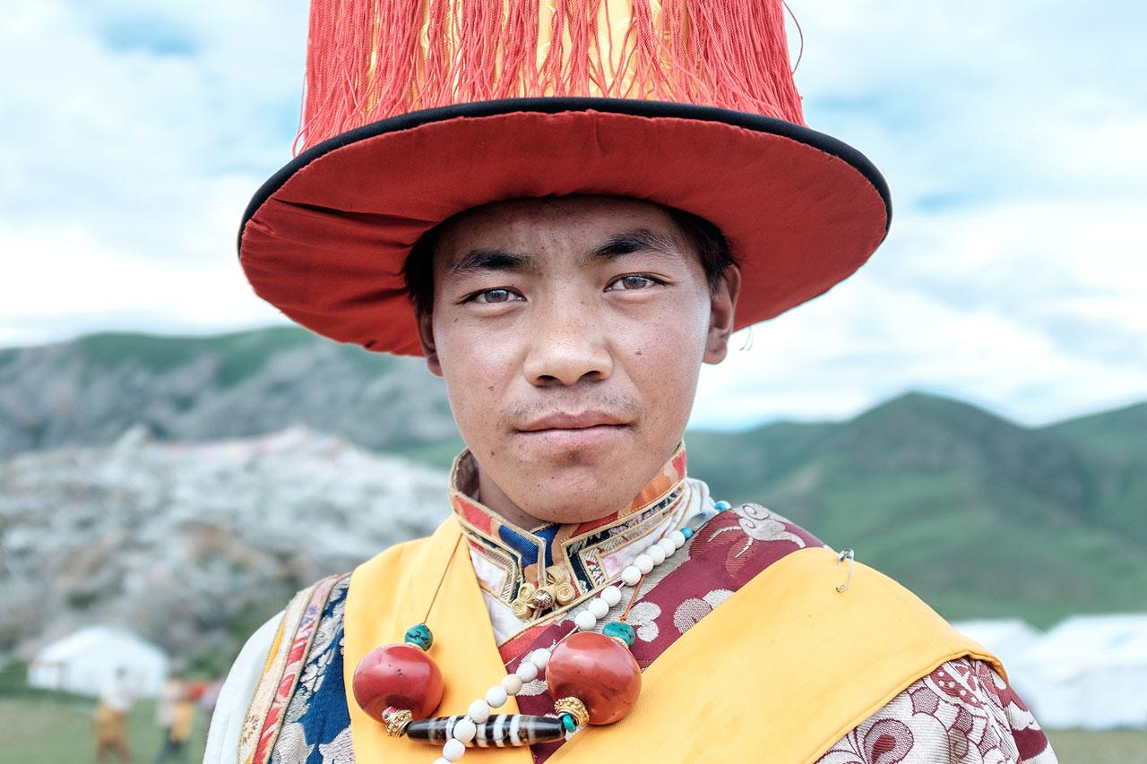 Copy of portrait tibetan man in traditional clothes kulturhybrid