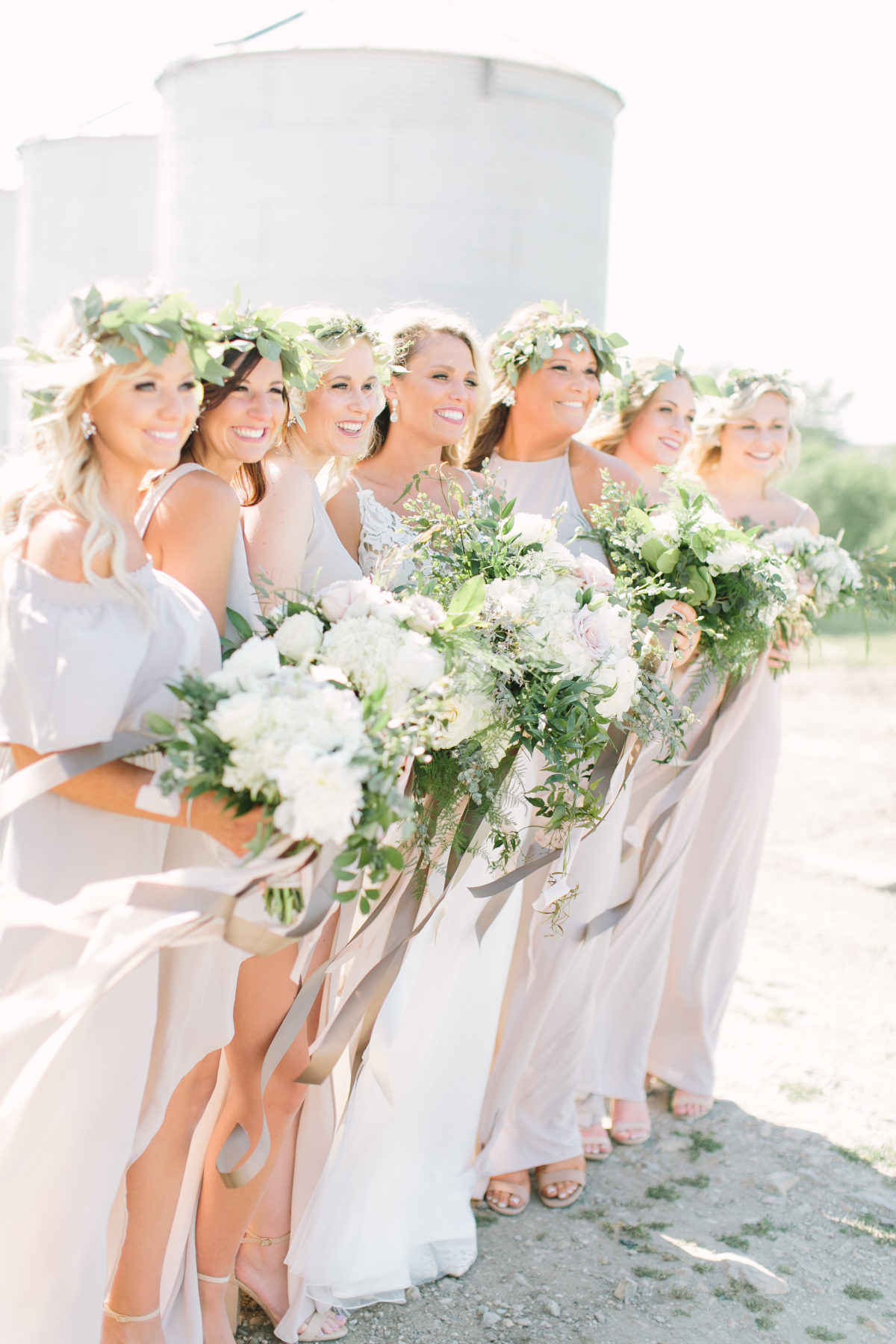 romantic iowa farm wedding - style me pretty