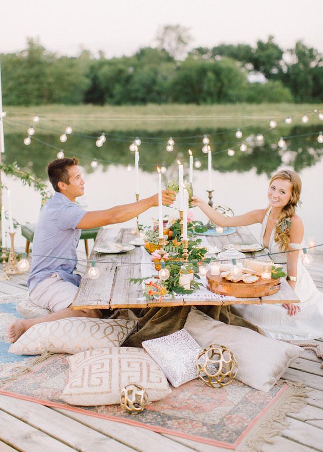 romantic proposal - green wedding shoes
