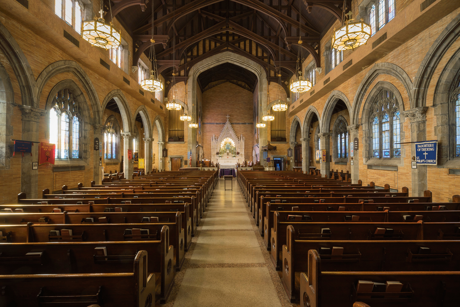 Interior of St. Philips Church, Harlem
