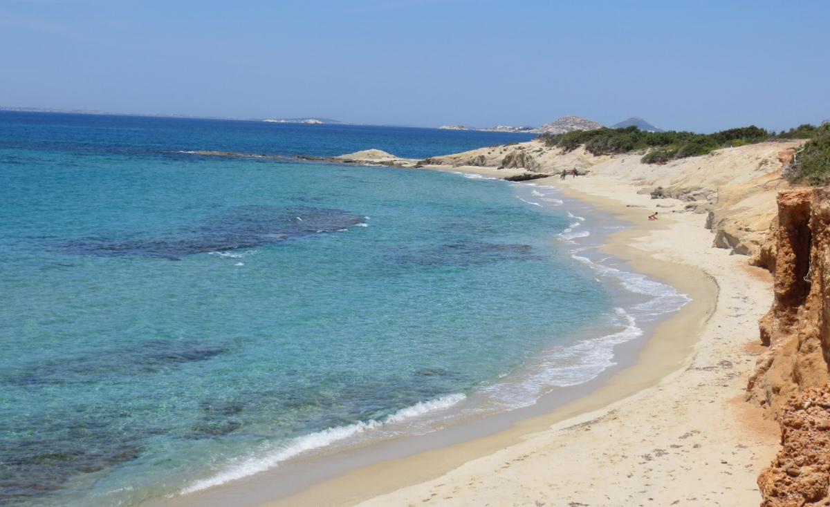 one of the many beautiful beaches in naxos