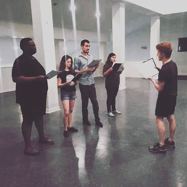 The chorus is coming to life! Developing the dozens of diverse denizens (from the town of North Pond) w/director Darian (Silvers) #newmusical