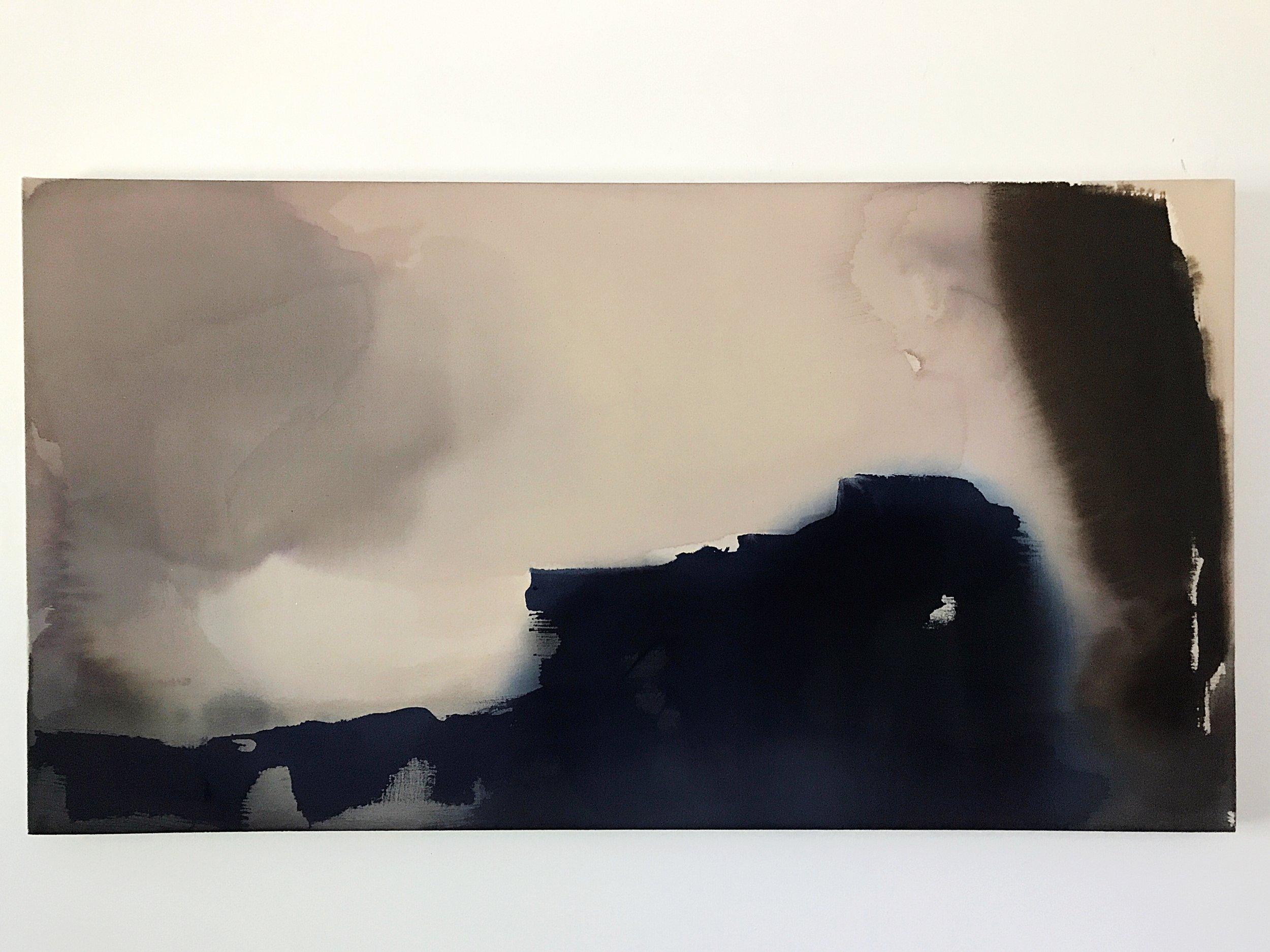 The Sound acrylic on unprimed canvas 48x26 $2000.JPG