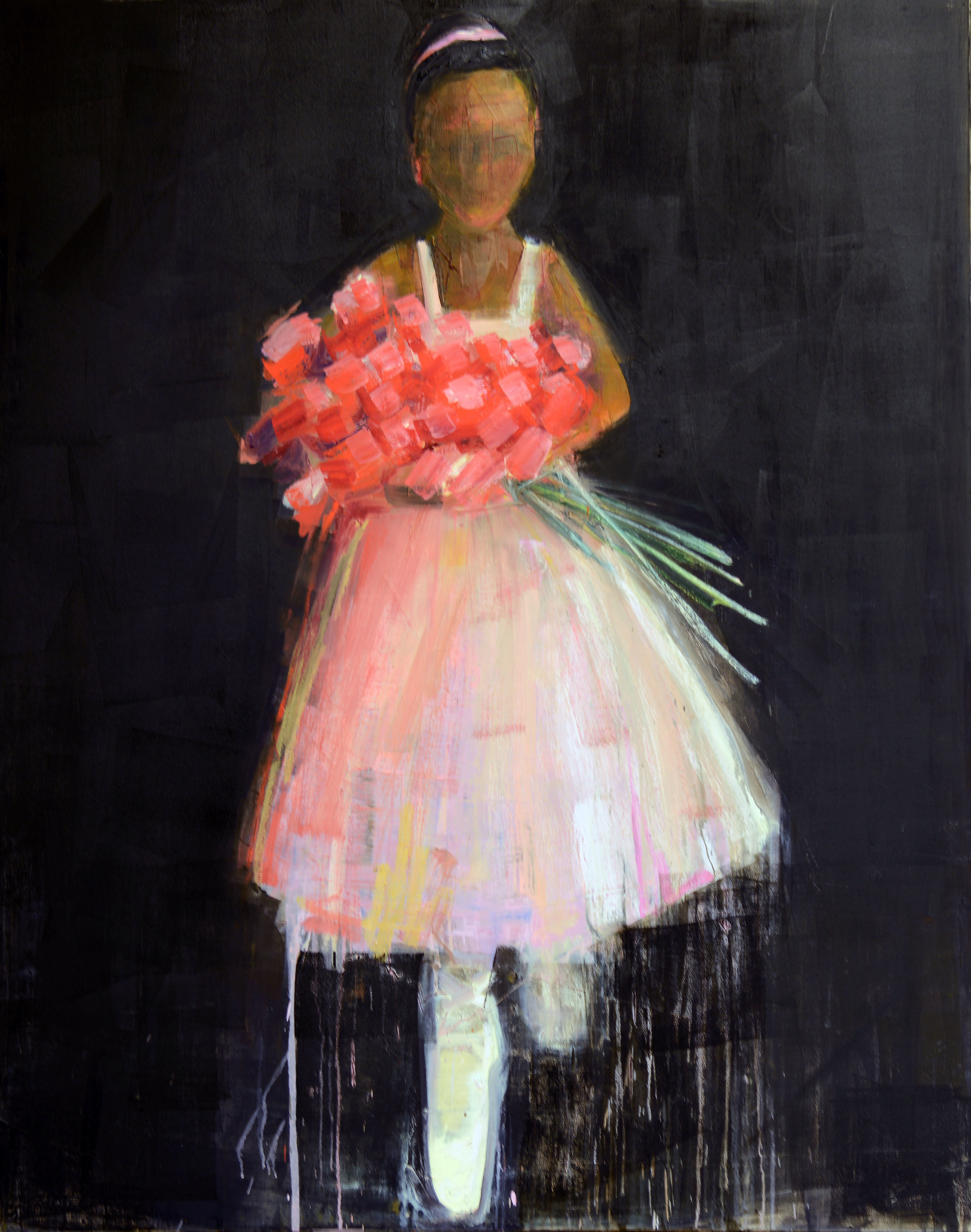DANCER (PRINCIPAL)   -PRIVATE COLLECTION-  60 x 48 inches  oil and wax on linen
