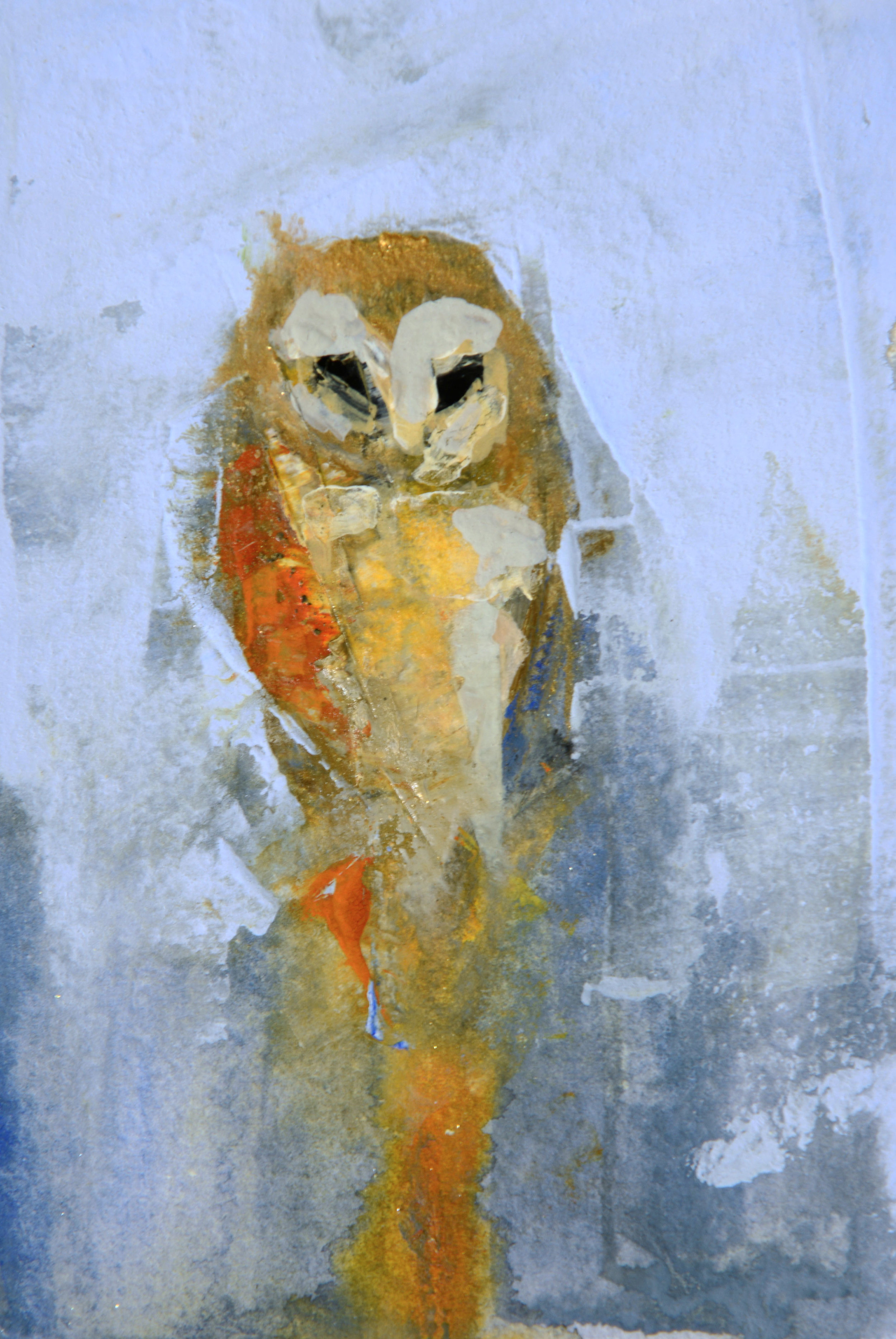 Rebecca_Kinkead_Barn Owl no. 2.MM on paper_inset on 11x7.5.jpg