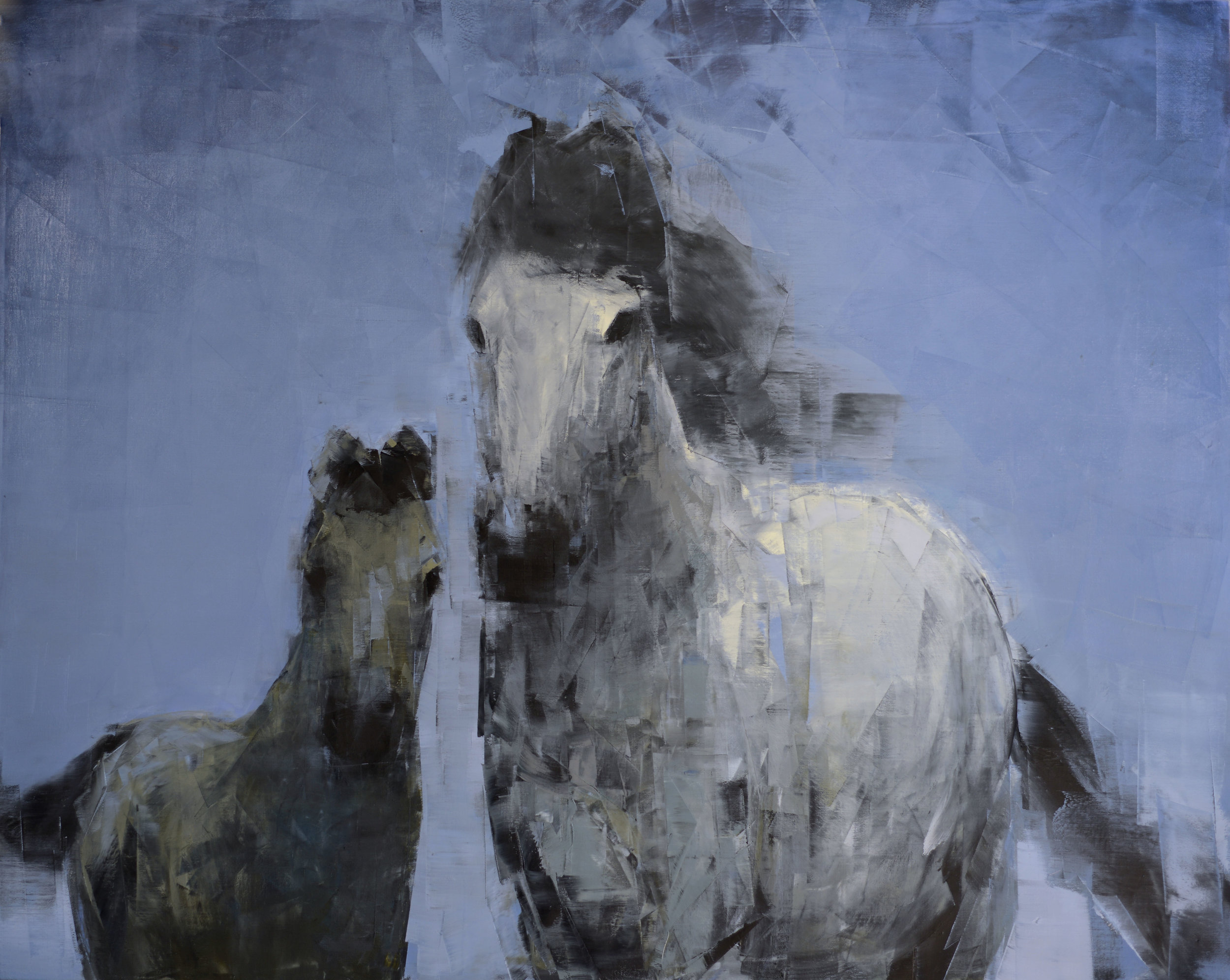 Mare and Foal (Blue Sky)_48x60.jpg