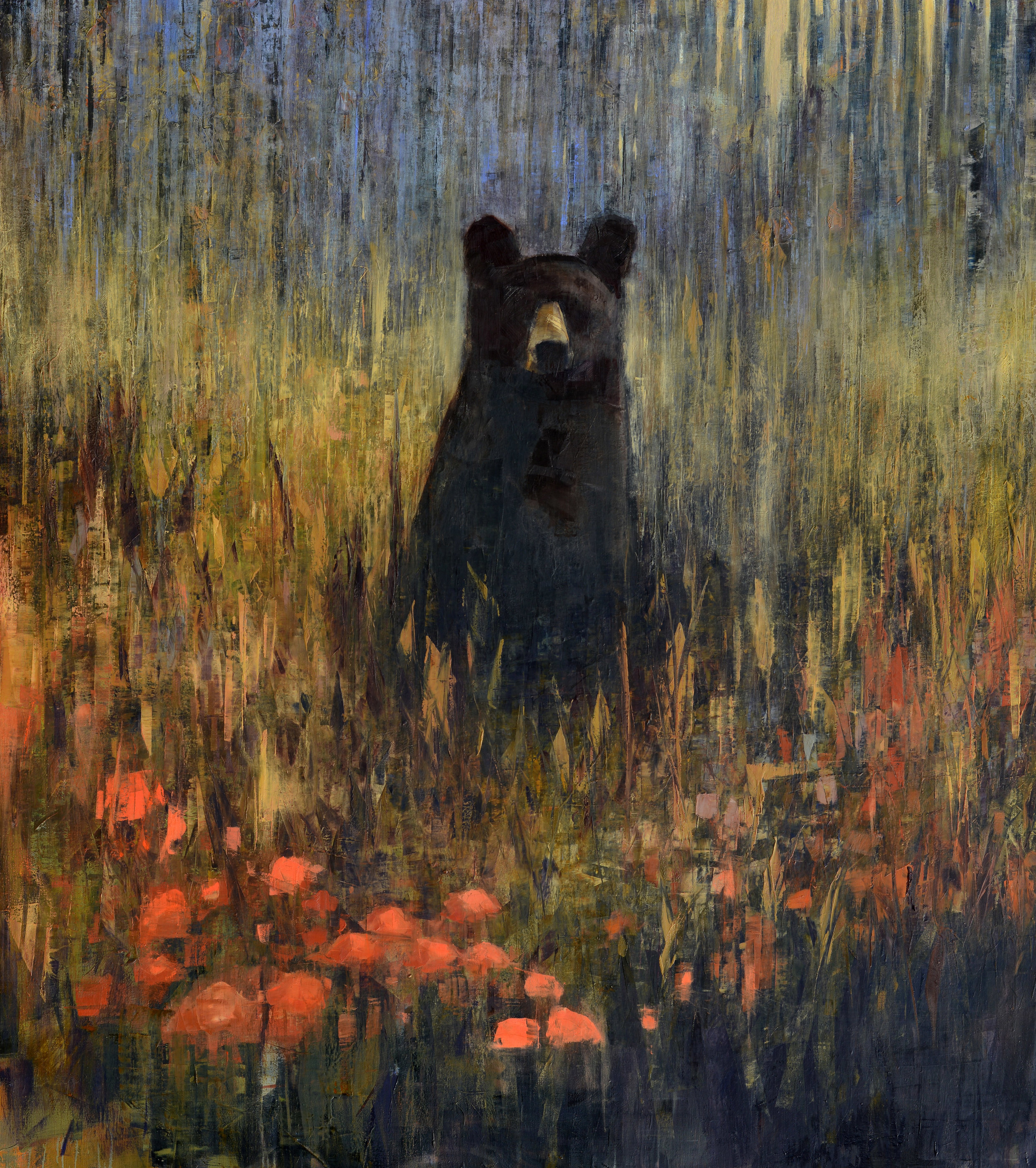 Black Bear Contemplating Autumn_74x66.jpg