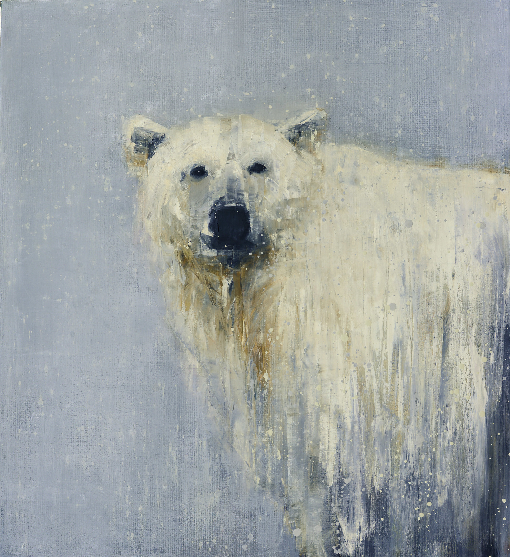 POLAR BEAR CONTEPLATING FIRST SNOW_36X30.jpg