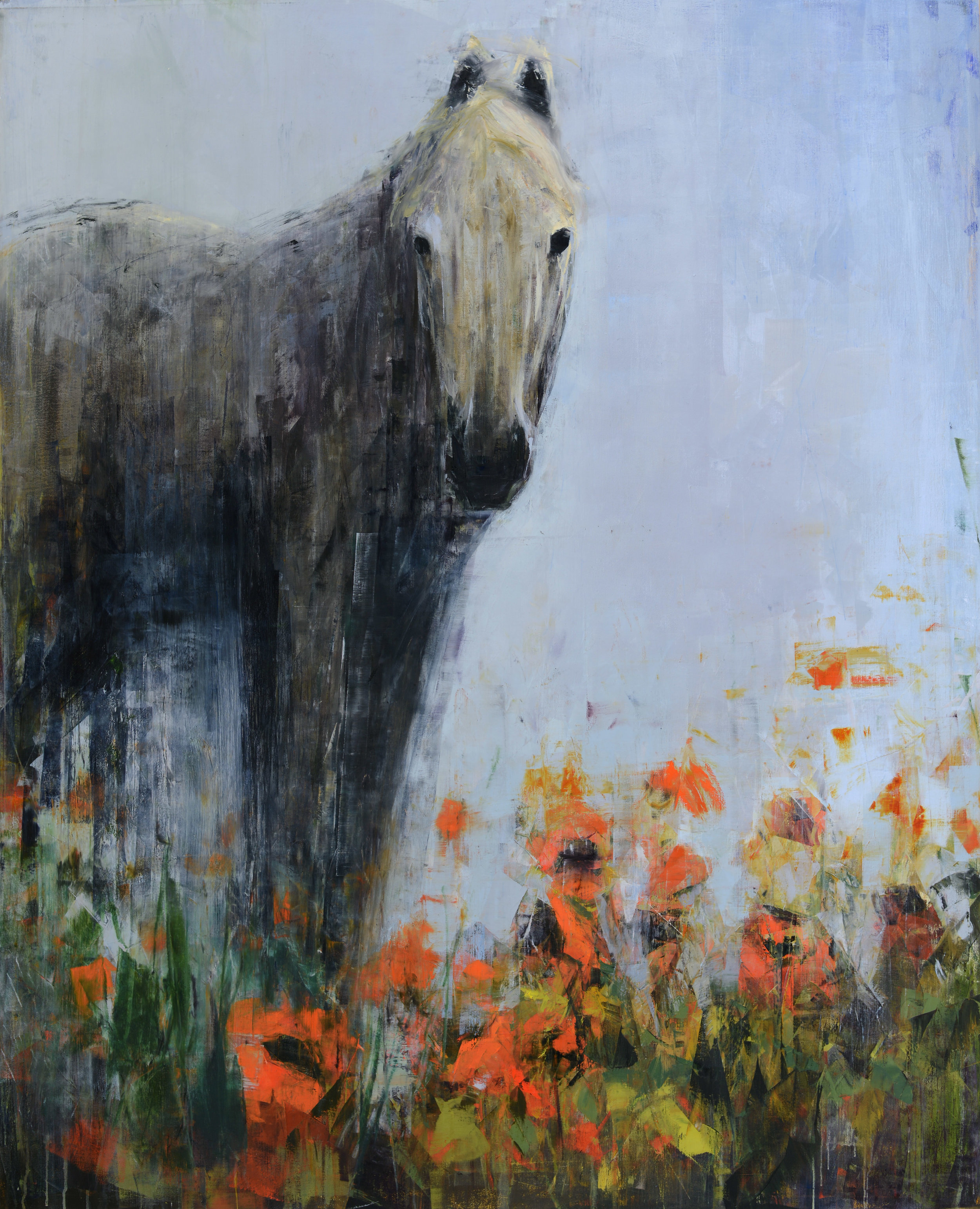 Grey Mare with Poppies_60x48.jpg