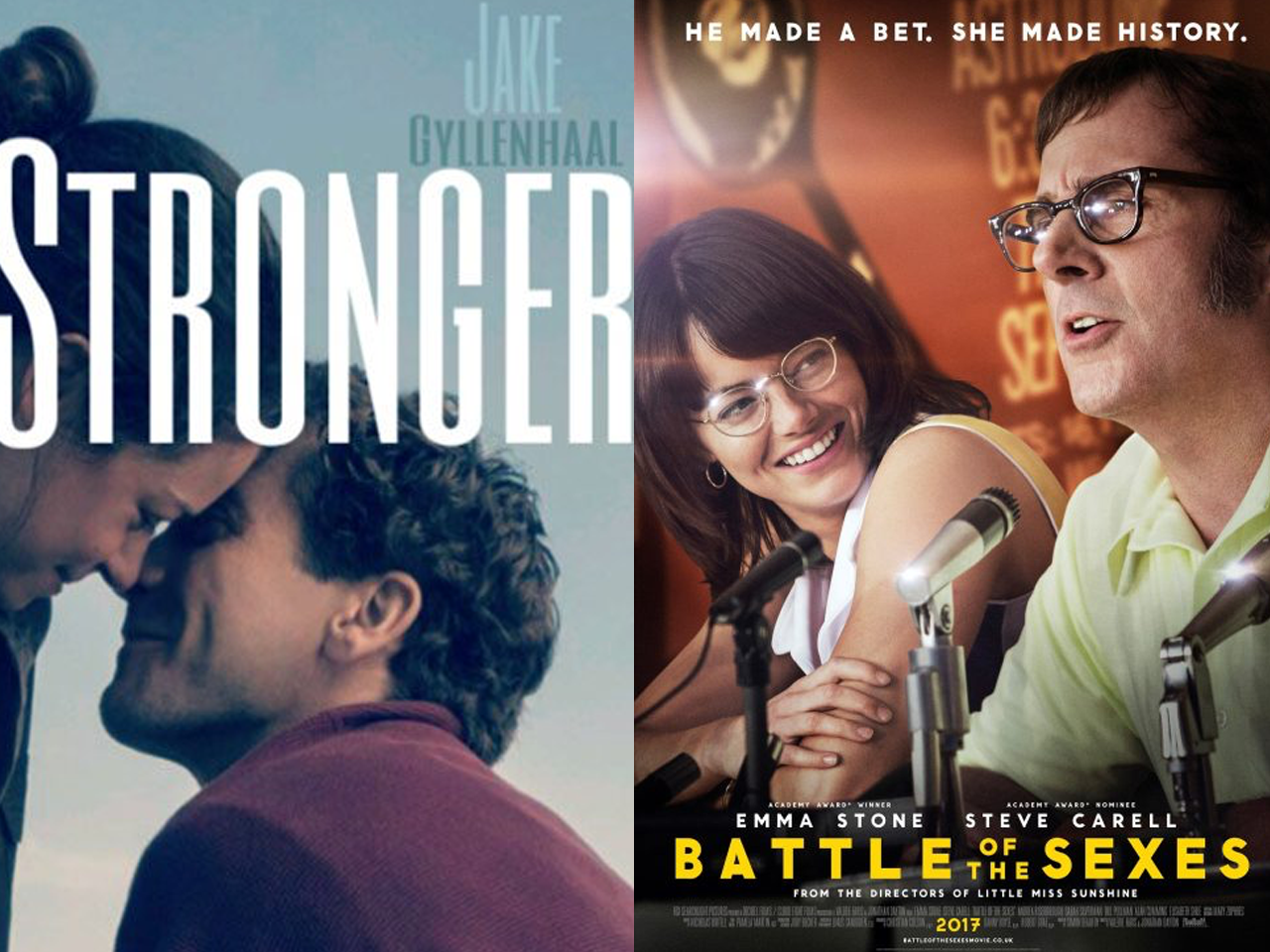 Stronger and Battle of the Sexes Split Posters.png