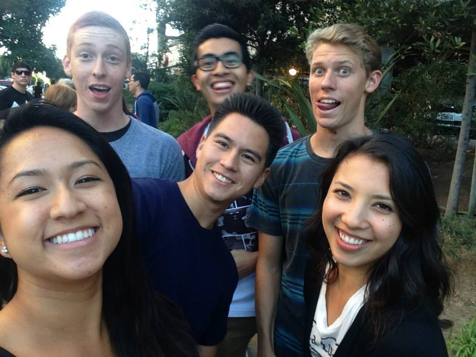 Me and frandz in line to see Arctic Monkeys at the Wiltern.