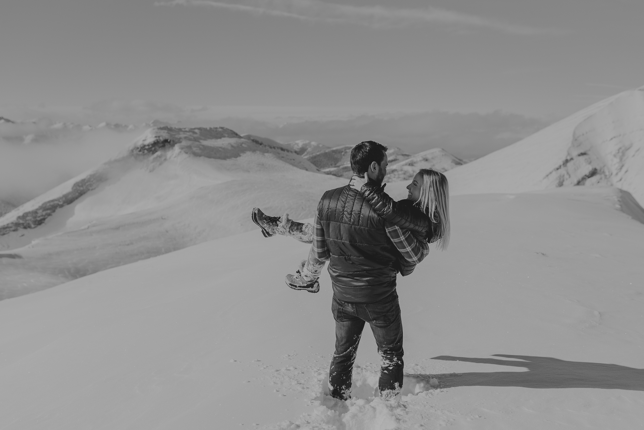Kananaskis mountain helicopter engagement calgary wedding photographer