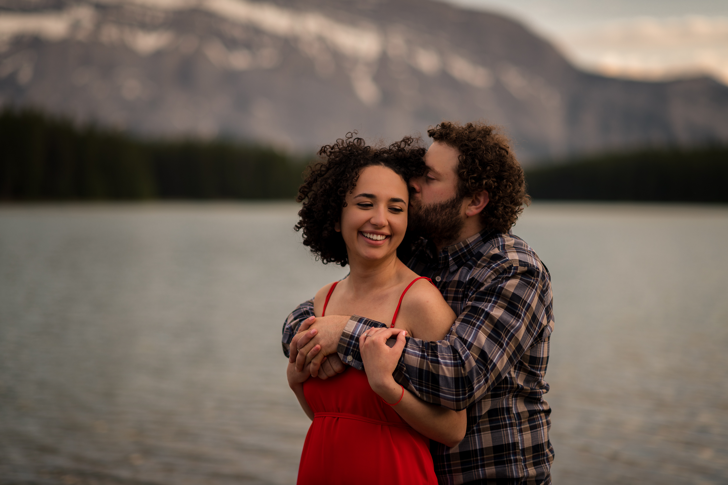 Two Jack Lake Banff engagement calgary banff wedding photographer