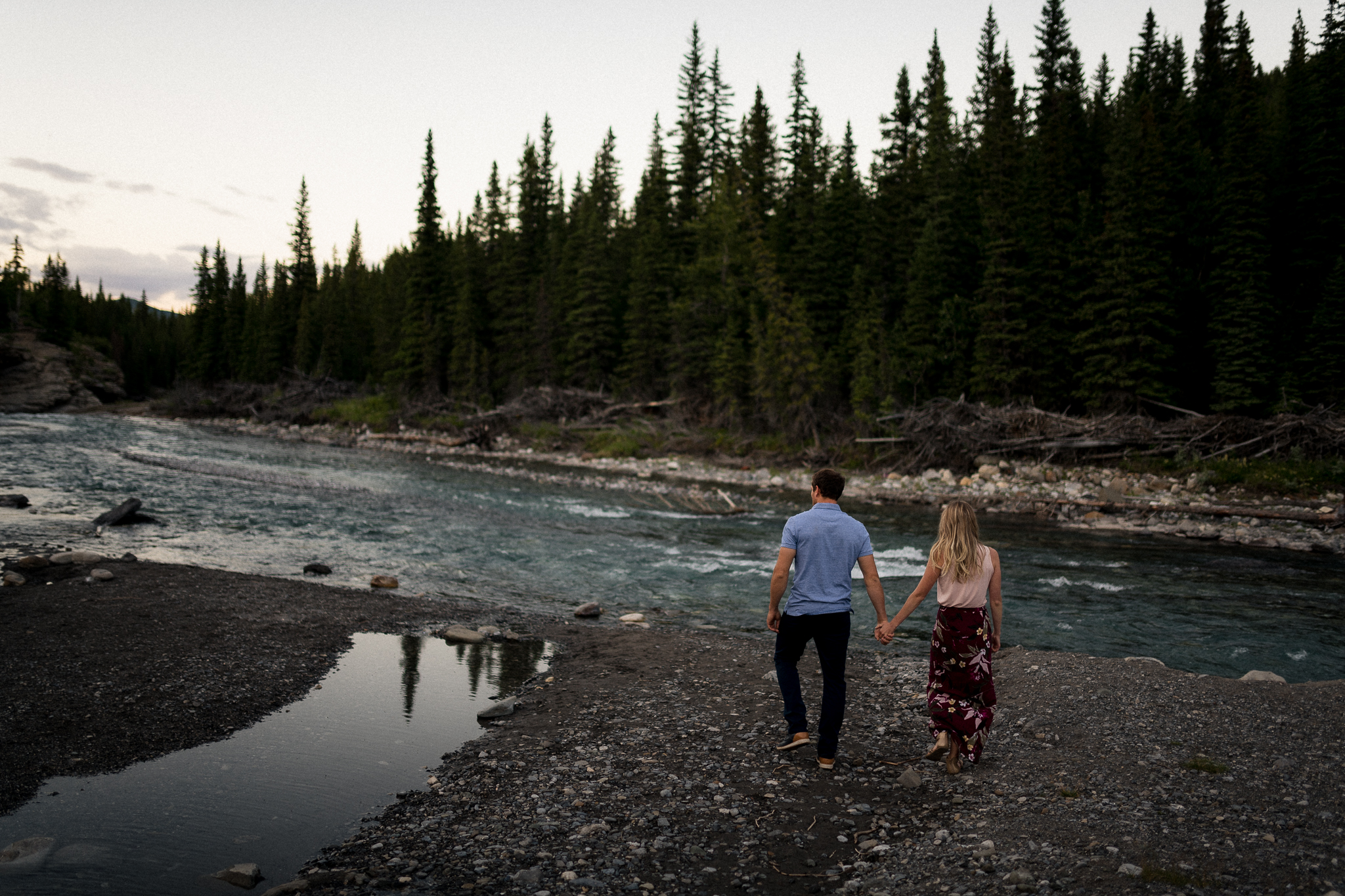 kananaskis mountain engagement calgary banff wedding photographer