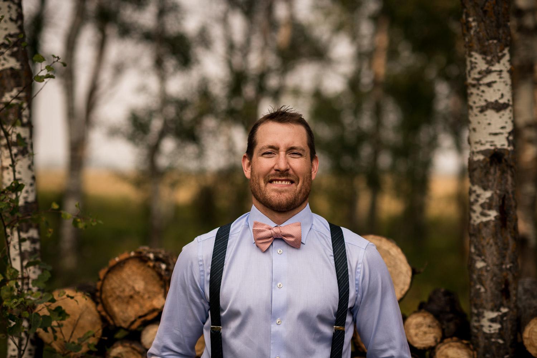 GQ Rustic Groom farm wedding details Alberta Intimate Farm wedding calgary banff wedding photographer elopement