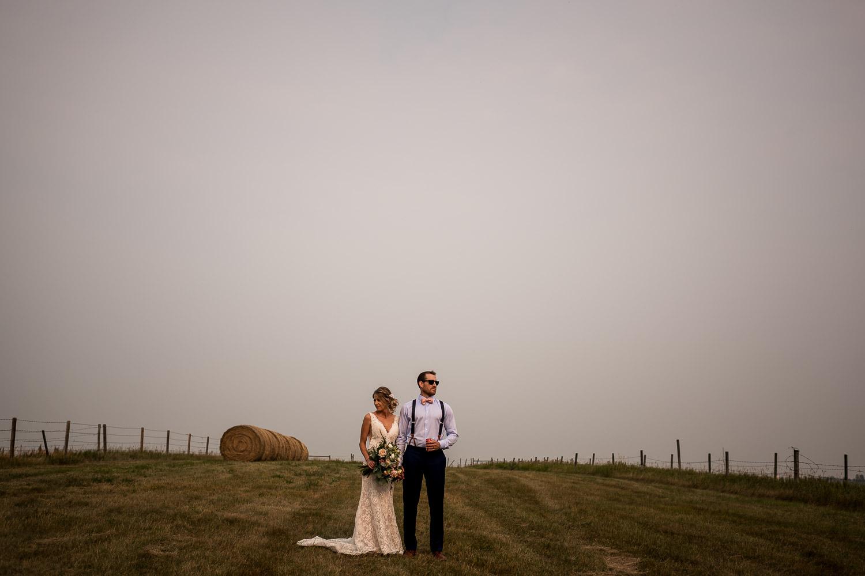calgary bride and groom wedding portraits alberta rustic farm wedding banff wedding photographer elopement