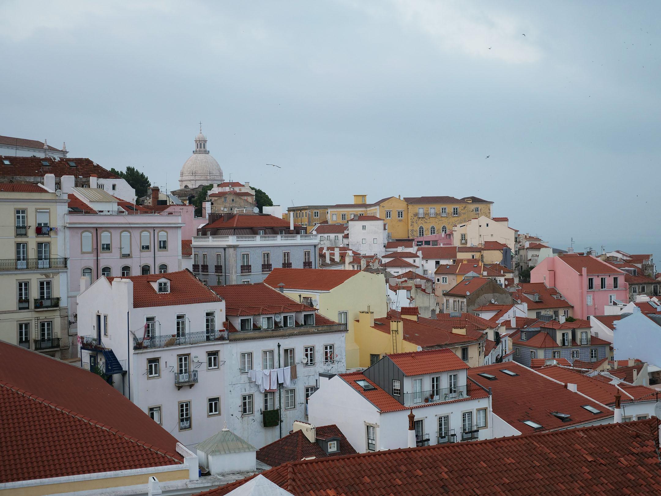 Lisbon as seen from Portos do Sol
