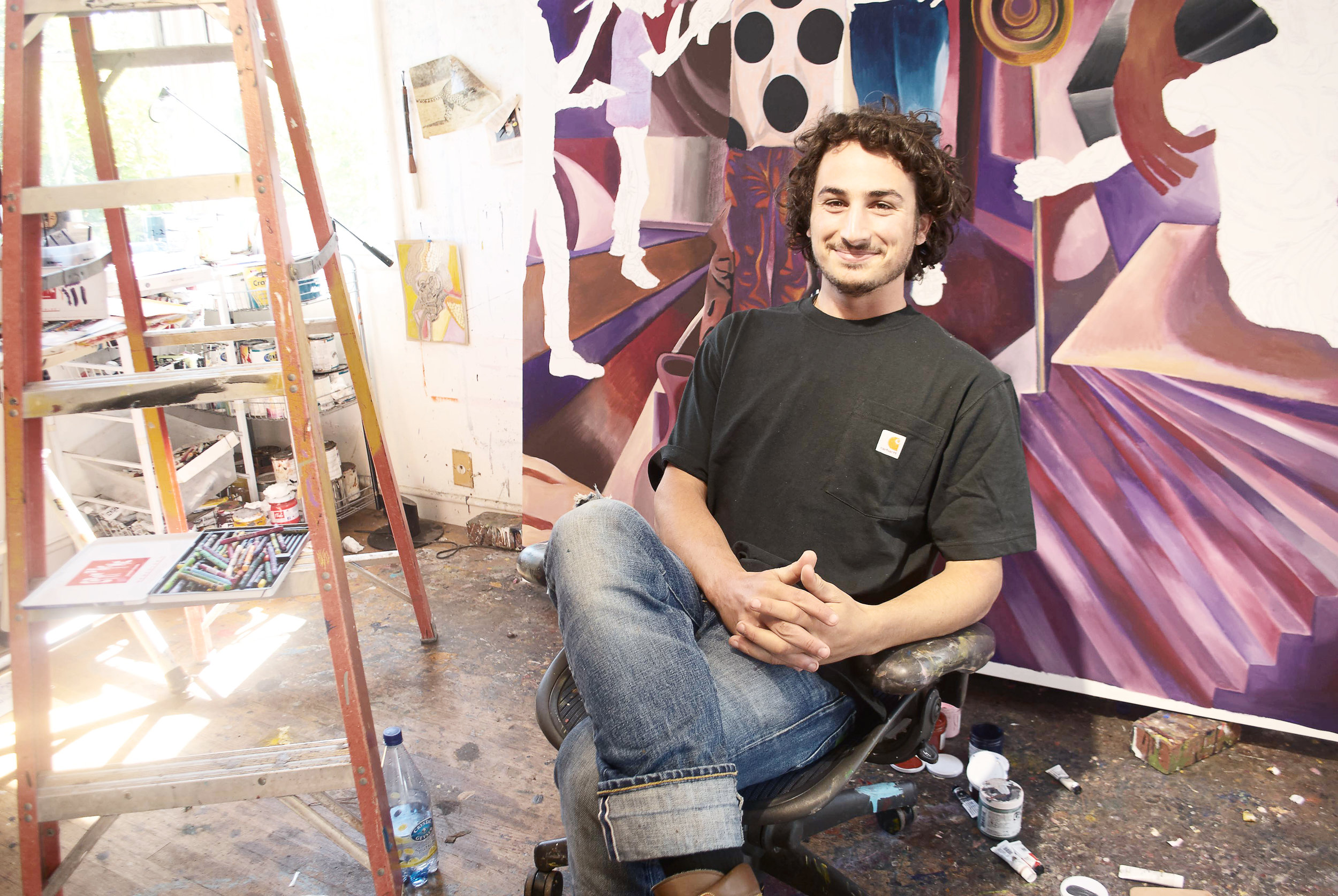 Photography by Anthony Rogers — Zio Zeigler in his artist home.