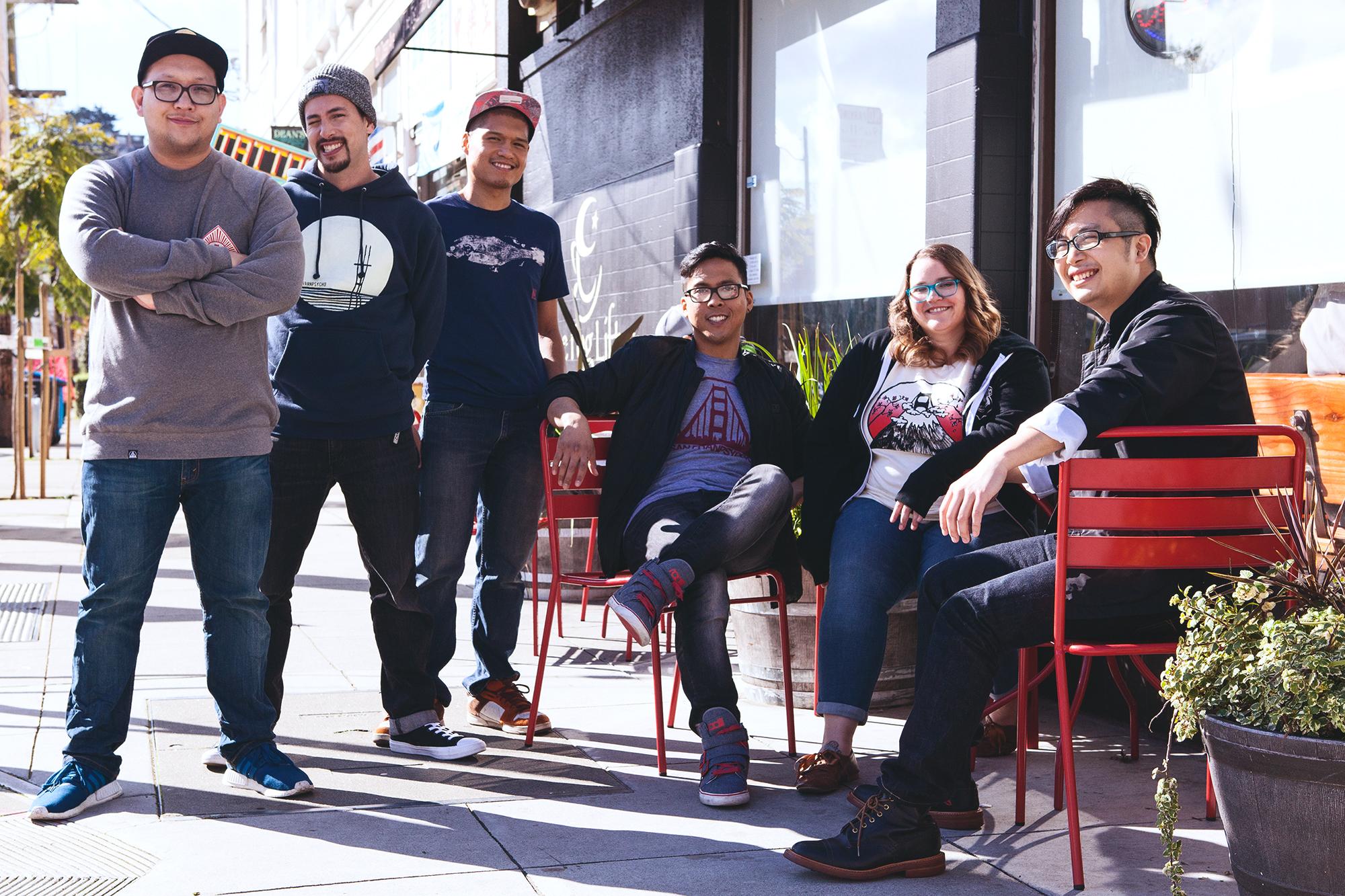 The In Hiatus team wearing San Franpsycho, Photography by  Danielle Rueda