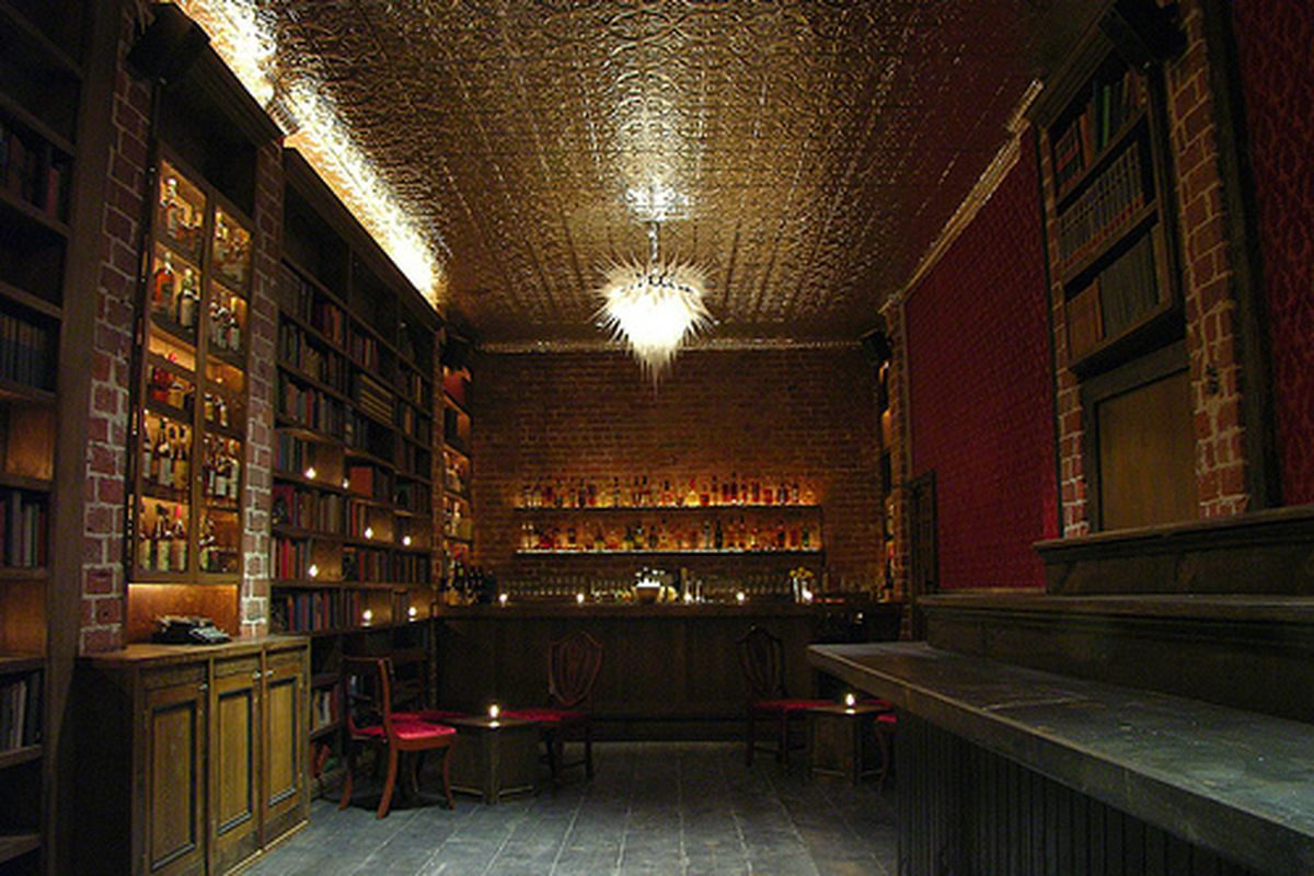 A sneaked photo from inside the Berkeley Bourbon & Branch, photo via Eater SF
