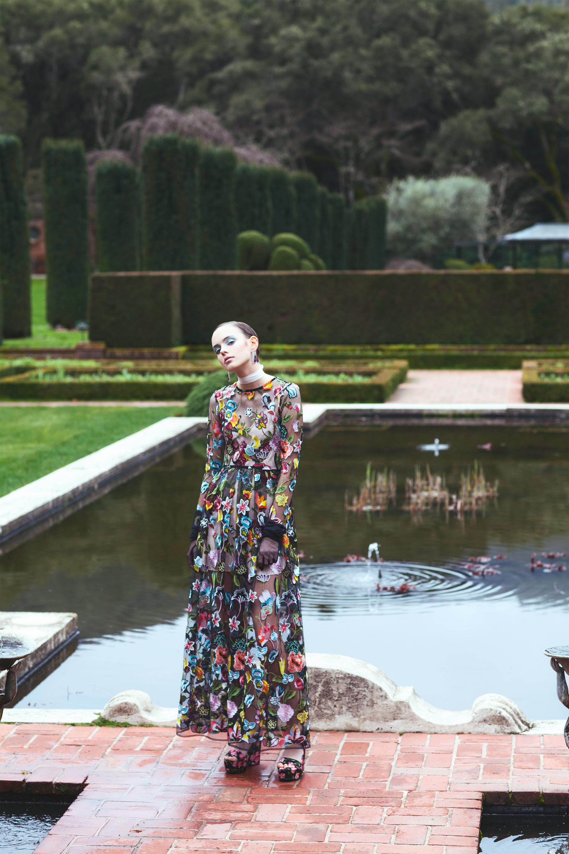 Dress by ASOS SALON, Shoes by Warehouse, Choker by Zaza Bridal.