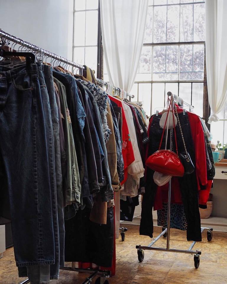 The racks of carefully selected vintage.