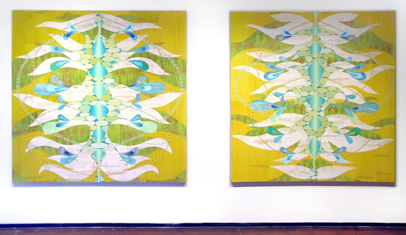 """Both """"Isidia, Scylla"""" — Rex Ray Retrospective, photo courtesy of Gallery 16"""