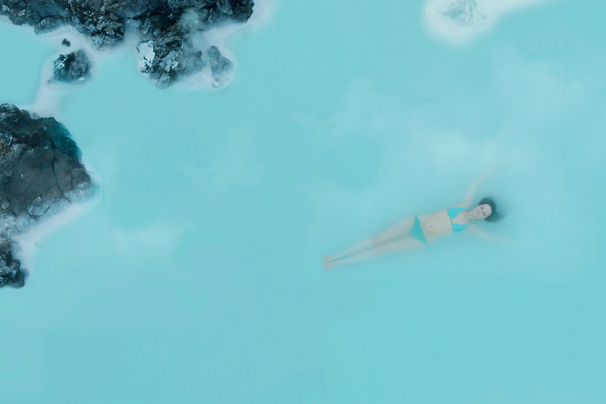 The Blue Lagoon springs in Iceland is a WOW Air destination experience, photo via Guide To Iceland