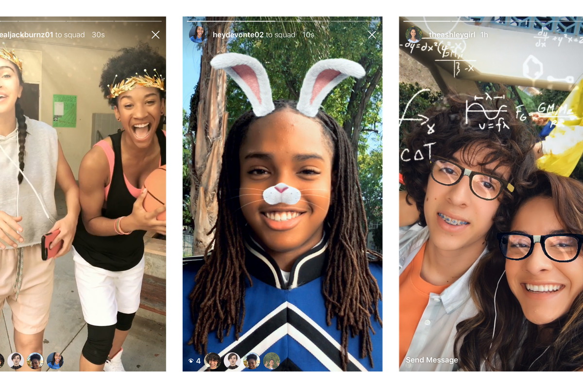Example of Instagram's face filters, photo courtesy of Instagram.