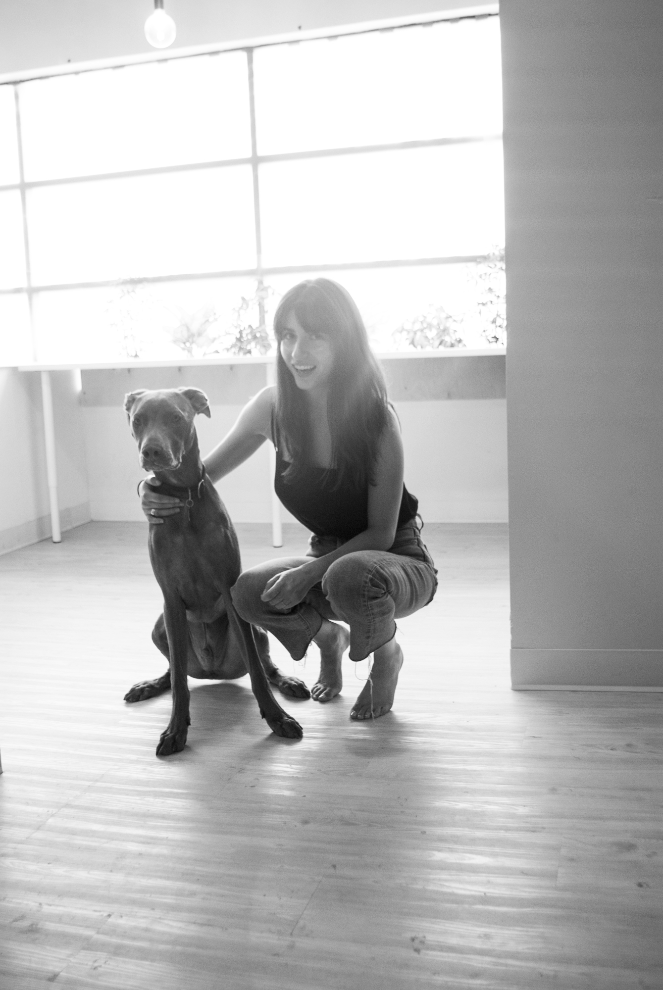 Ariana Roviello and her puppy, Cedar.
