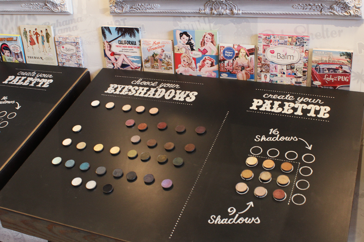 The interactive palette making board at their 788 Valencia St storefront.